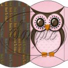Owl Back To School Pink & Brown Back #2 ~ Pillow Box