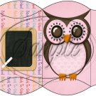 Owl Back To School Pink & Pink  Back #1 ~ Pillow Box