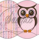 Owl Back To School Pink & Pink  Back #2 ~ Pillow Box