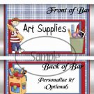 Art Supplies ~ School Days Educational  Standard Candy Bar Wrapper