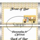Winter (Christmas) School Bus ~ School Days Educational  Standard Candy Bar Wrapper