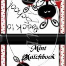 Ladybug Back to School ~ Mint Matchbook Cover