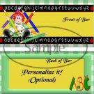 Green Gingham Rag Doll  ~ School Days Educational  Standard Candy Bar Wrapper