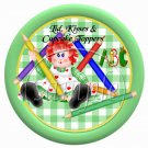 Green Gingham Rag Doll  ~ Cupcake Picks & Toppers
