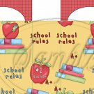 School Rules #2 ~ Party Favor Totes, Bags & Boxes