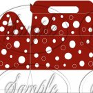 Red White Polka Dots ~ Gable Gift Snack Box
