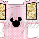 Pink Minnie Faux  Inspired By  ~ Carriage Popcorn Box or Gift Box