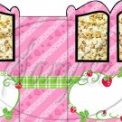 Strawberry Shortcake #2 ~ Faux Inspired By  ~ Carriage Popcorn Box or Gift Box