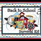 Back To School Survival Kit ~ Pint Glass Jar Set