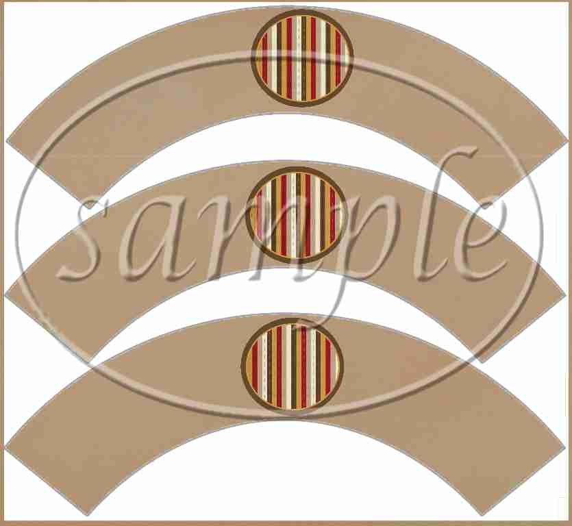 We need More Super Heros Like You Brown Striped Border  ~  Cupcake Paper Wrappers ~ Set of 1 Dozen