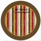 We need More Super Heros Like You Brown Striped Border ~ Cupcake Picks & Toppers