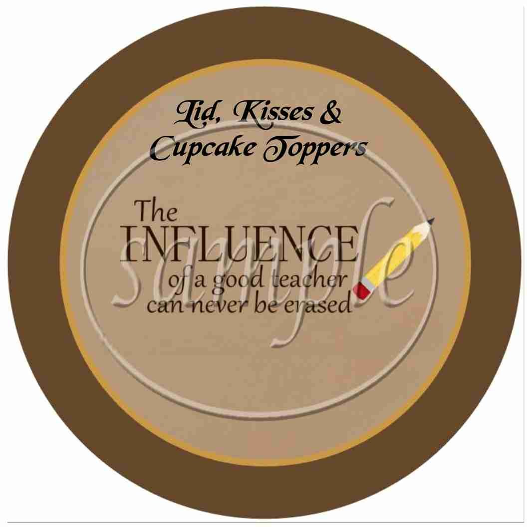 Influence of a Good Teacher Brown Plaid Border ~ Cupcake Picks & Toppers