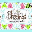 Blue God's Blessings  ~ Pint Glass Jar Set