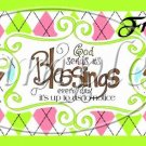 Green God's Blessings  ~ Pint Glass Jar Set