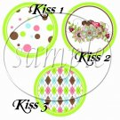 Green God's Blessings ~ Cupcake Picks & Toppers