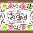 Brown God's Blessings  ~ Pint Glass Jar Set
