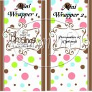 Brown God's Blessings ~ MINI Candy Bar Wrappers