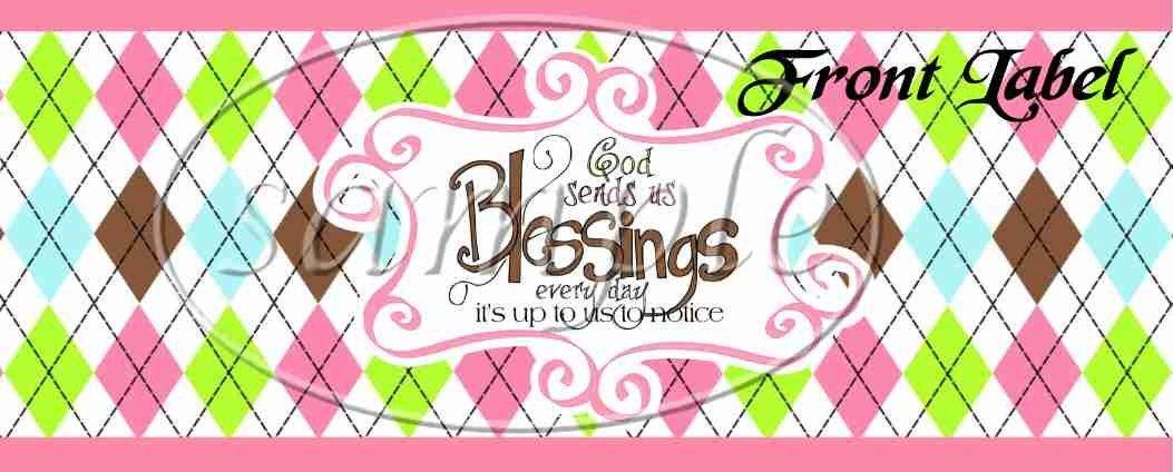 Pink God's Blessings  ~ Pint Glass Jar Set