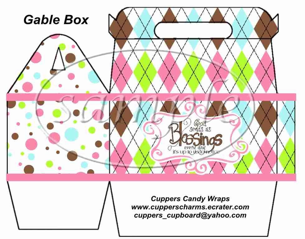 Pink God's Blessings ~ Gable Gift Snack Box