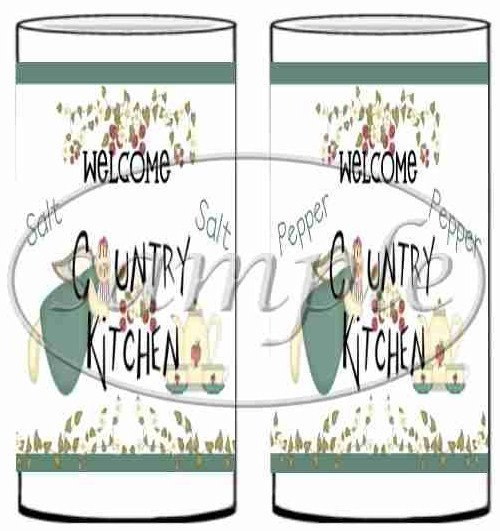 Country Kitchen ~ Salt & Pepper Shaker Wrappers