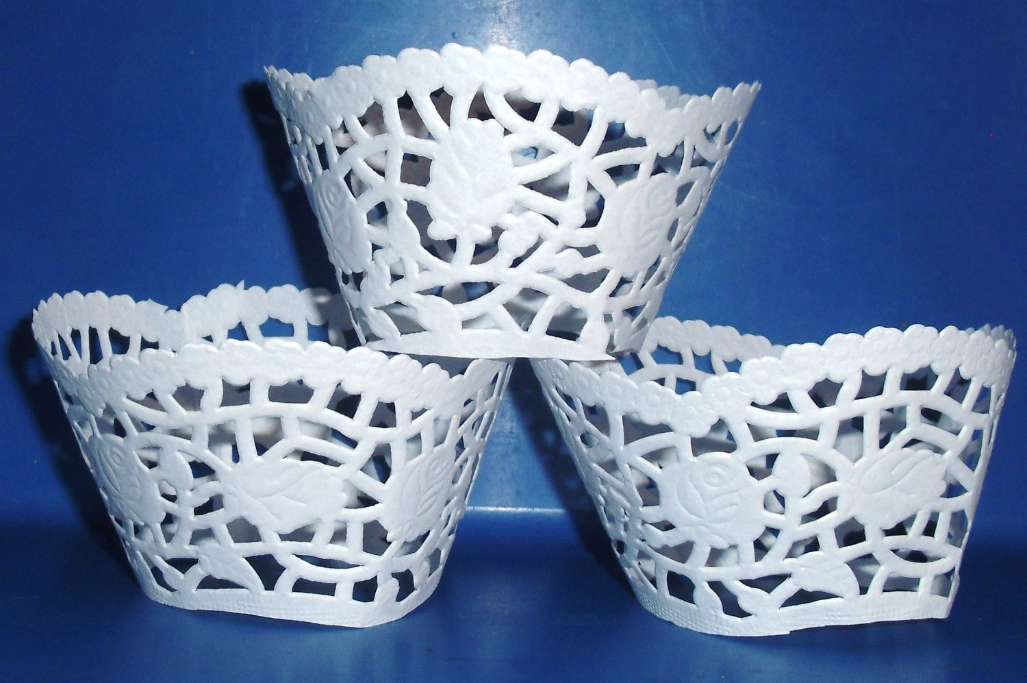White Lace  ~  Cupcake Paper Wrappers ~ Set of 1 Dozen
