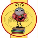 School Time Ladybug ~  Pencil, Straw or Candy Cane Slider ~ 3 Dozen Set