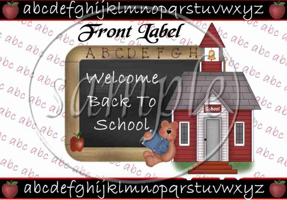 Welcome Back To School ~ Quart Glass Jar Set