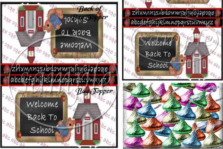 Welcome Back  ~ Treat Bag Toppers
