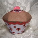 Cupcake Box ~ Standard Size ~ Brown Icing with Ladybug  Wrapper