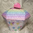 Cupcake Box ~ Standard Size ~ Multi Color Icing with Balloon Wrapper