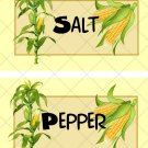 Corn Harvest ~ Salt & Pepper Shaker Wrappers