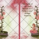 Rustle of the Wind Pink Fairy ~ Post It Note ® Cover