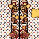 Brown & Yellow Foral ~ Post It Note ® Cover