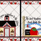 Teachers teach from the Heart  ~ Post It Note ® Cover