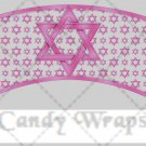 Star of David Pink ~  Cupcake Paper Wrappers ~ Set of 1 Dozen