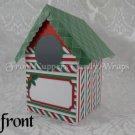 Candy Cane House ~  Mini Birdhouse