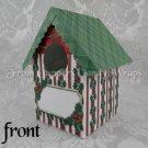 Christmas Holly ~  Mini Birdhouse