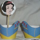 Snow White Inspired by Disney ~  Cupcake Paper Wrappers & Toppers~ Set of 1 Dozen