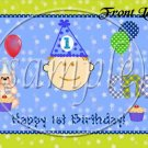 Baby's first 1st Birthday ~ Gallon Can Set