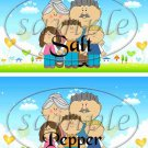 Grandchildren Fill the Empty Space ~ Salt & Pepper Shaker Wrappers