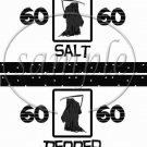 Happy 60th Birthday Grim Reaper ~ Salt & Pepper Shaker Wrappers
