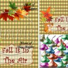 Fall Is In The Air ~  Treat Bag Topper