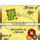Happy Autumn  ~ Standard 1.55 oz Candy Bar Wrapper  SOE