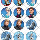 Frozen Faux or Inspired by Disney~  Cupcake Pick & Toppers ~ Set of 1 Dozen