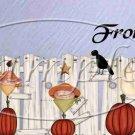 Country Halloween Crow ~ Quart Glass Jar Set