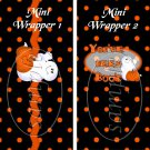 Delightfully Frightful Set #1 ~ MINI Candy Bar Wrappers