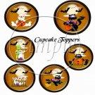 Halloween Moon  ~  Cupcake Pick & Toppers ~ Set of 1 Dozen