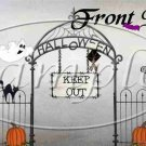 Keep Out Halloween ~ Pint Glass Jar Set