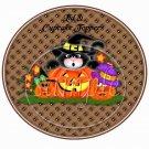 Cat and Halloween Pumpkins  ~  Cupcake Pick & Toppers ~ Set of 1 Dozen