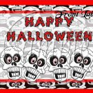 Halloween Skull  ~ Quart Glass Jar Set